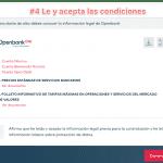 Abrir cuenta con Openbank paso 4: Lee y acepta las condiciones