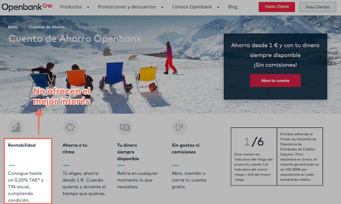 Opiniones de otros productos de Openbank