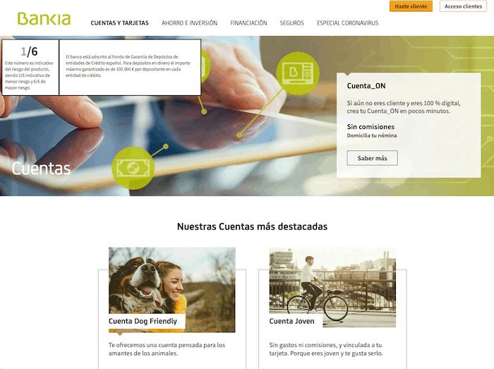 Otras cuentas corrientes de Bankia