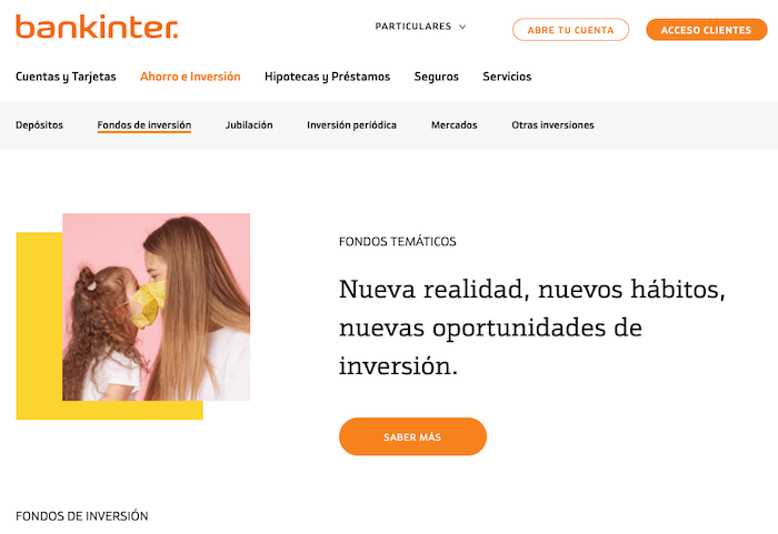 Productos de inversión disponibles con Bankinter