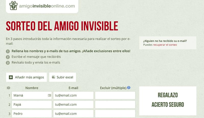 Hay incluso sitios web para sortear el amigo invisible