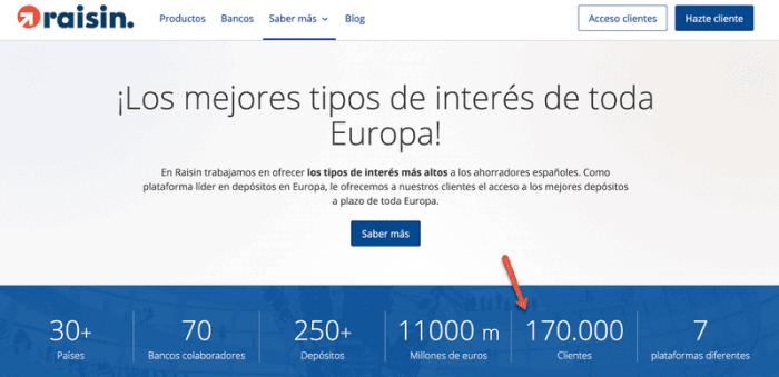 Raisin cuenta con más de 170.000 cliejntes registrados.