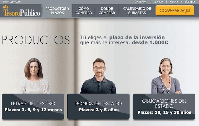 Comprar letras y bonos de España, renta fija