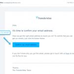 Confirma tu dirección de email a TransferWise
