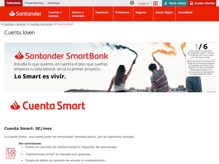 Santander Cuenta Smart