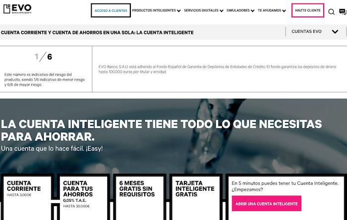 EVO, banca online de España con el que ahorrar dinero