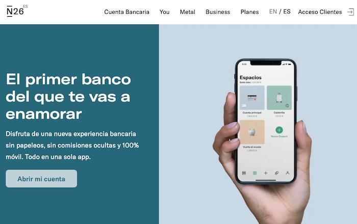N26 es un banco online de creciente popularidad
