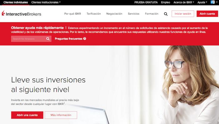 Interactive Brokes, plataforma de inversión financiera