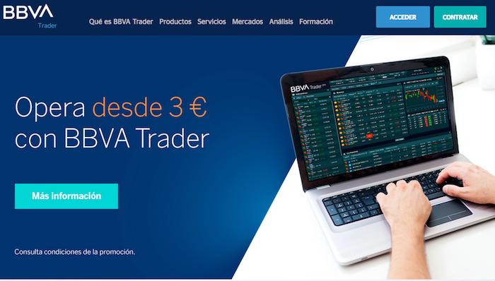 Plataforma de inversión BBVA Trader