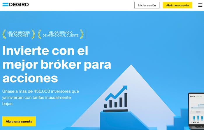Plataforma de inversión en bolsa Degiro