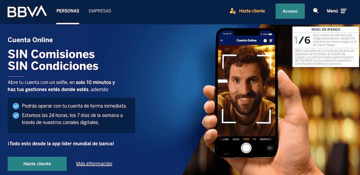 Cuenta BBVA Online sin comisiones