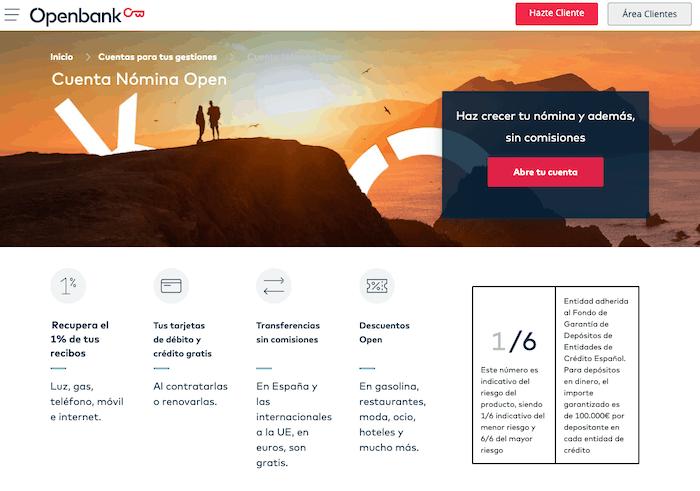 Cuenta Nómina Openbank