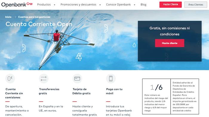 Cuenta sin comisiones de Openbank