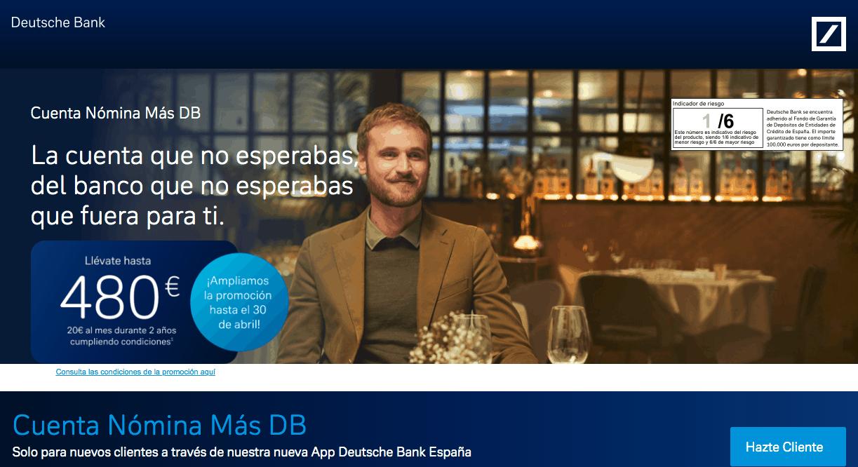 Cuenta nómina del Deutsche Bank