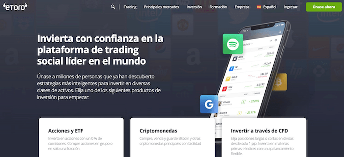 eToro broker de trading