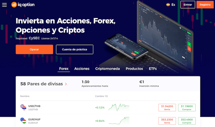 IQ Option es un broker para el trading