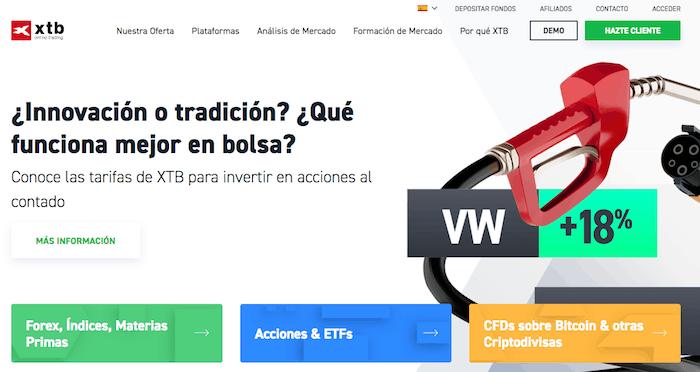 La plataforma de trading de XTB