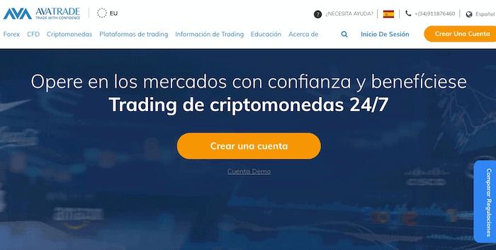Plataforma de trading de derivados AvaTrade